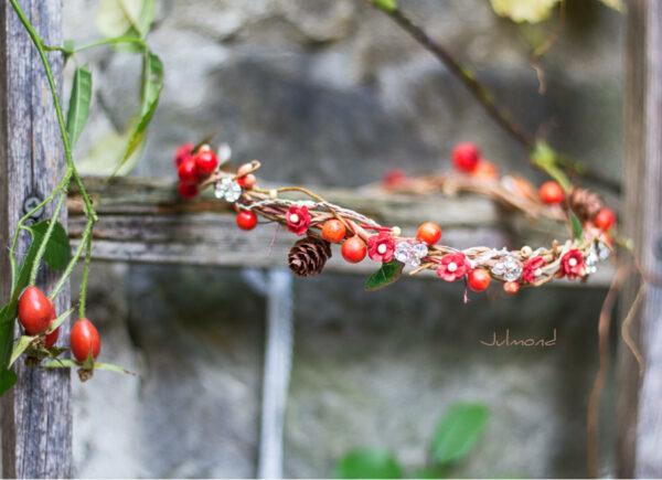 Elara Haarschmuck Blumen Herbst Orange-05