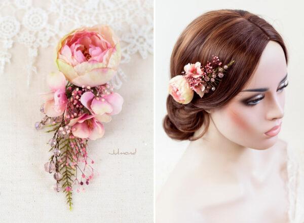 Elea II Haarblüte Dirndl Haarschmuck Brautblüte Hochzeit-14