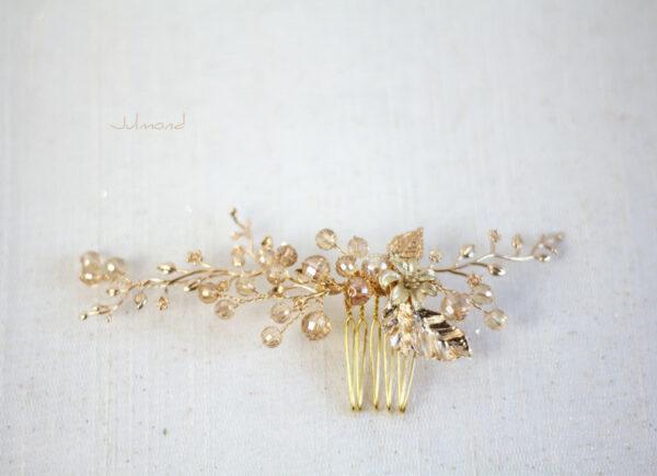 Elin – Braut Haarschmuck Gold Haarkamm-05