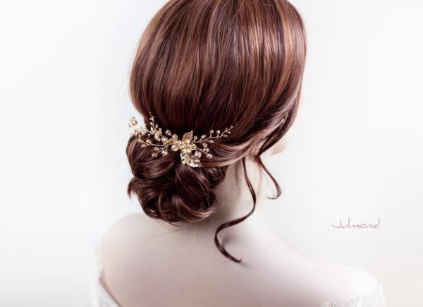 Elin – Braut Haarschmuck Gold Haarkamm-08