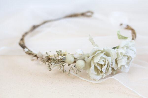 Emily Haarband Blumen Hochzeit Ivory-01