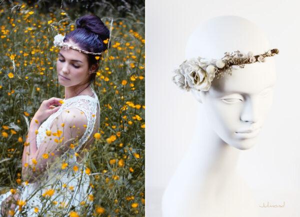 Emily Haarband Blumen Hochzeit Ivory-03
