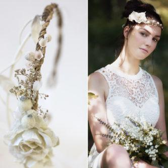 Emily Haarband Blumen Hochzeit Ivory-04
