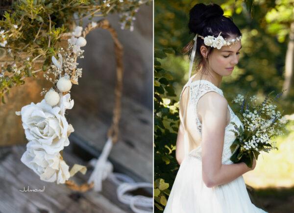 Emily Haarband Blumen Hochzeit Ivory-05