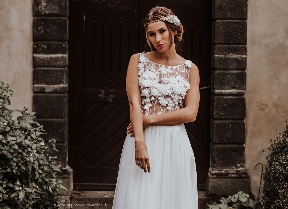 Emily Haarband Blumen Hochzeit Ivory-06