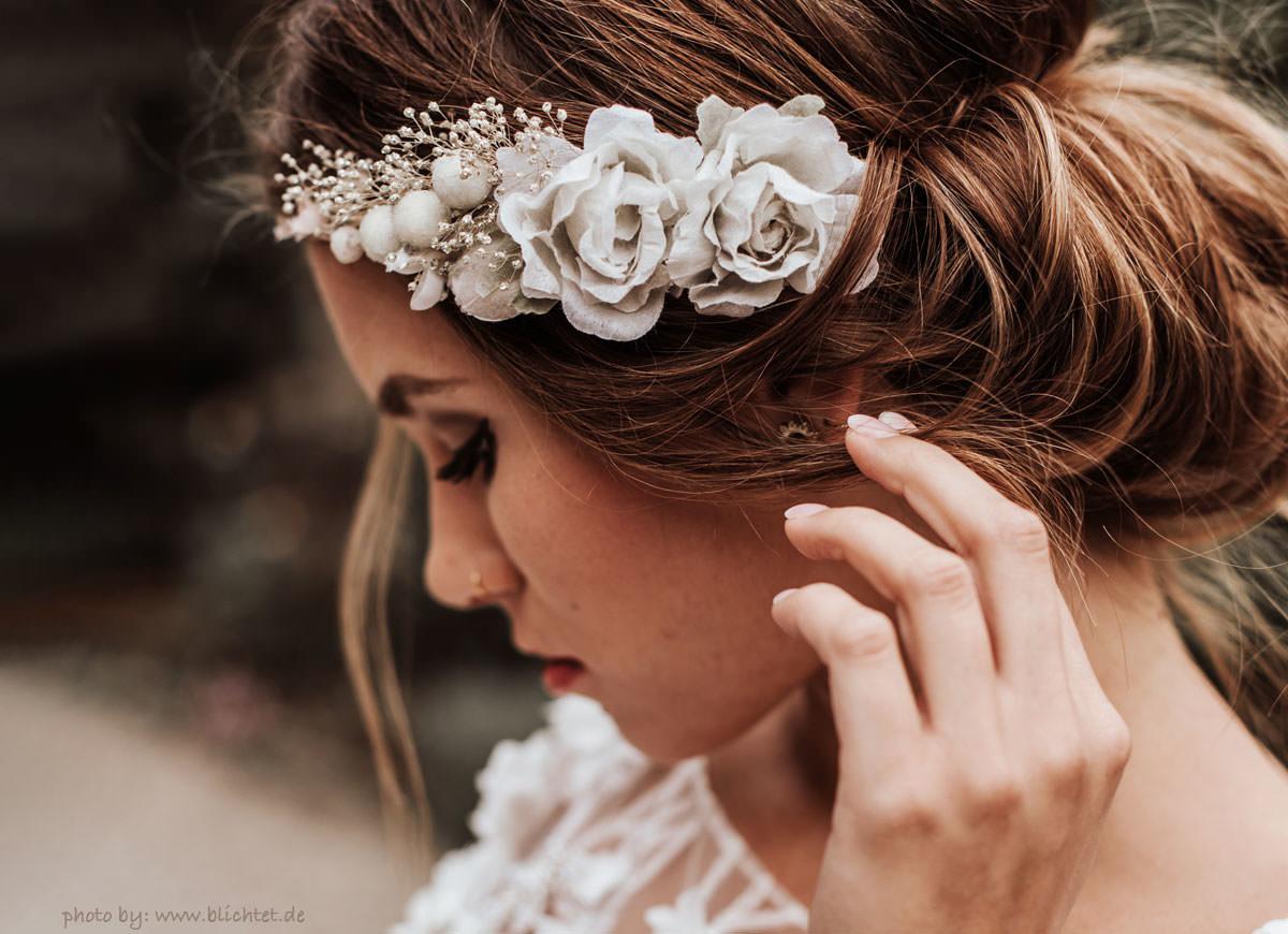 Emily Haarband Blumen Hochzeit Ivory-07