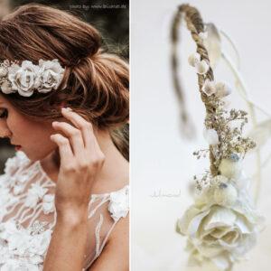 Emily Haarband Blumen Hochzeit Ivory-08