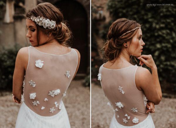 Emily Haarband Blumen Hochzeit Ivory-09