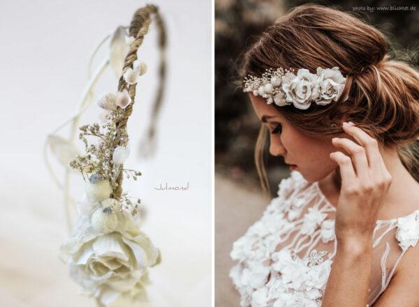 Emily Haarband Blumen Hochzeit Ivory-24