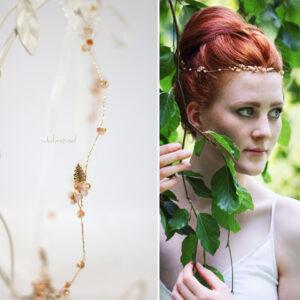 Evelia Haarschmuck Braut Diadem Rosegold-07