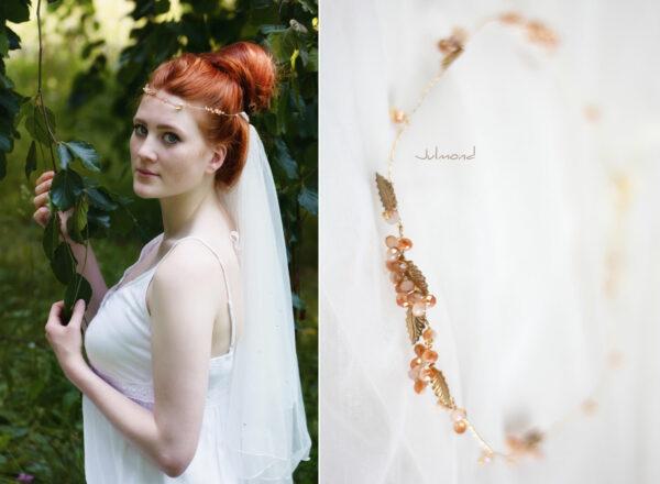 Evelia Haarschmuck Braut Diadem Rosegold-11