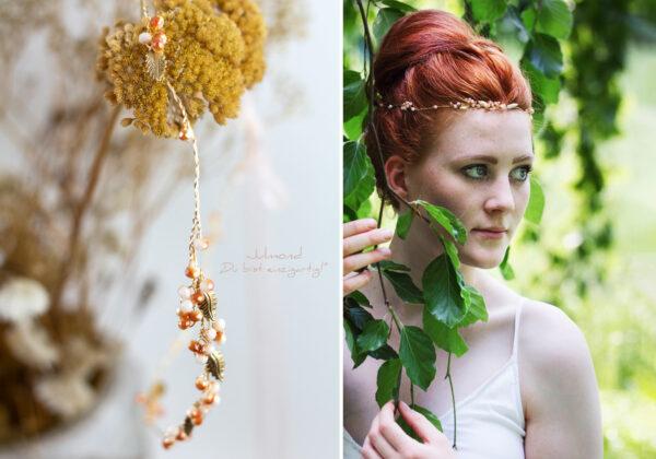 Evelia Haarschmuck Braut Diadem Rosegold-20