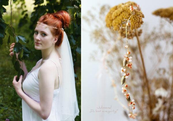 Evelia Haarschmuck Braut Diadem Rosegold-21
