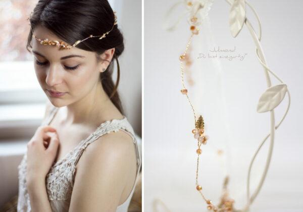 Evelia Haarschmuck Braut Diadem Rosegold-23