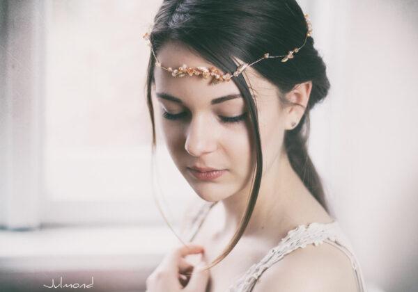 Evelia Haarschmuck Braut Diadem Rosegold-24