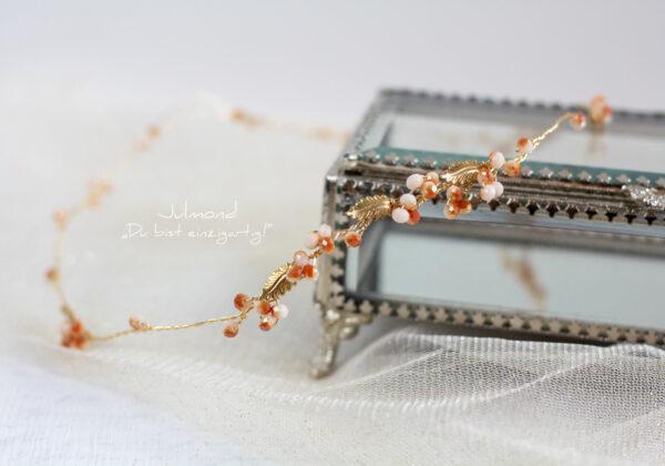 Evelia Haarschmuck Braut Diadem Rosegold-27