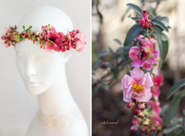 Florentine Haarband Blumen Oktoberfest Elfenkrone-07