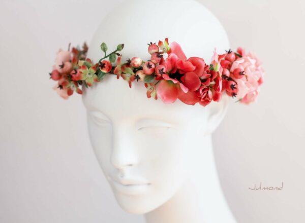 Florentine Haarband Blumen Oktoberfest Elfenkrone-08