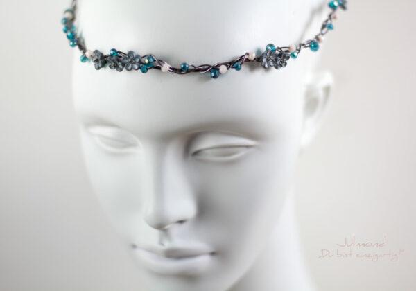 Francia Haarschmuck Perlen Blau-01