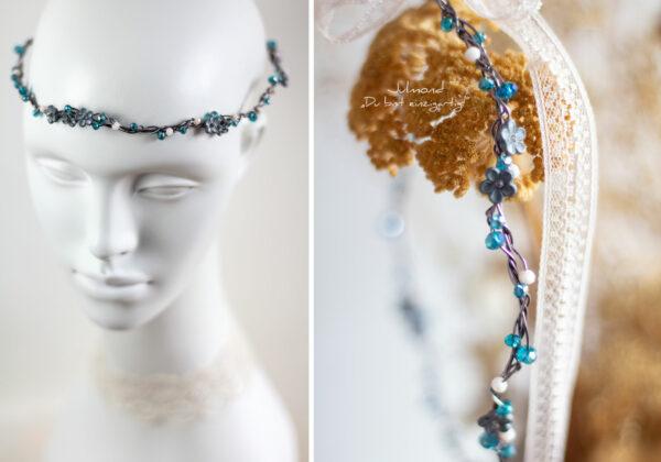 Francia Haarschmuck Perlen Blau-02