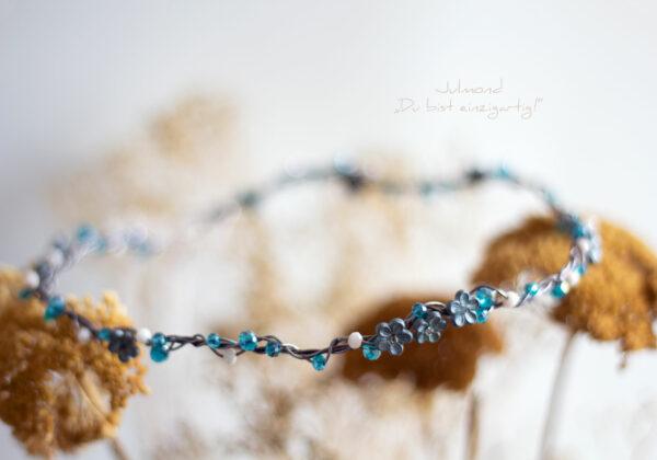Francia Haarschmuck Perlen Blau-03