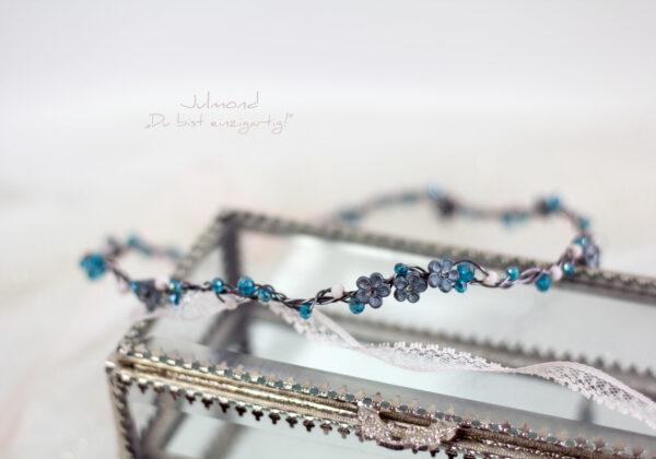 Francia Haarschmuck Perlen Blau-05