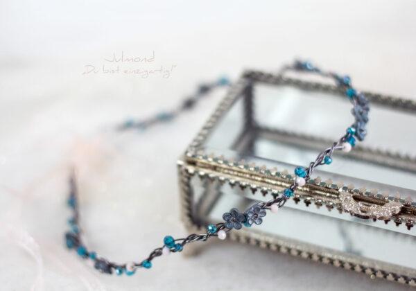 Francia Haarschmuck Perlen Blau-06