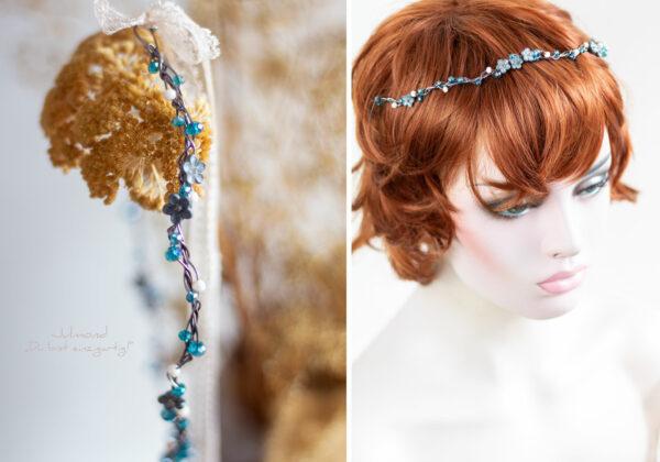 Francia Haarschmuck Perlen Blau-07