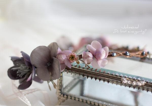 Gandalie Haarschmuck Blumenkranz Blumen Haarband-03