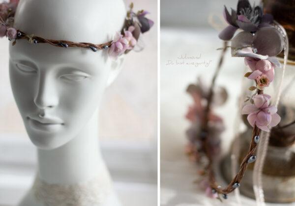 Gandalie Haarschmuck Blumenkranz Blumen Haarband-04