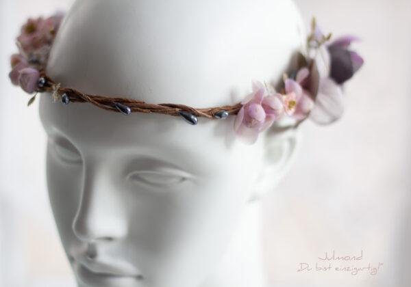 Gandalie Haarschmuck Blumenkranz Blumen Haarband-05