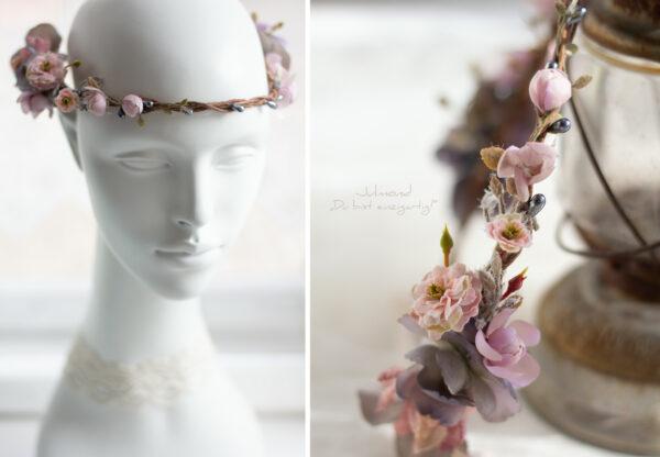 Gandalie Haarschmuck Blumenkranz Blumen Haarband-06