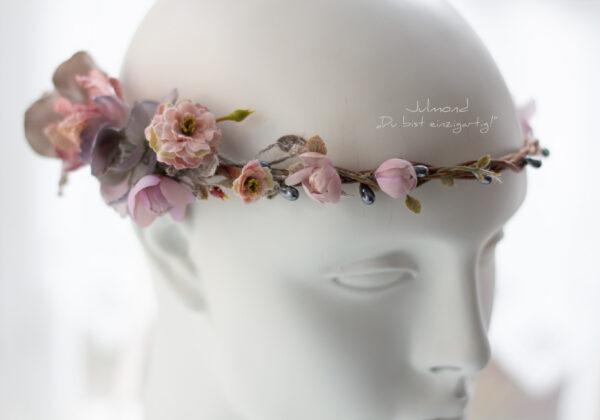 Gandalie Haarschmuck Blumenkranz Blumen Haarband-07
