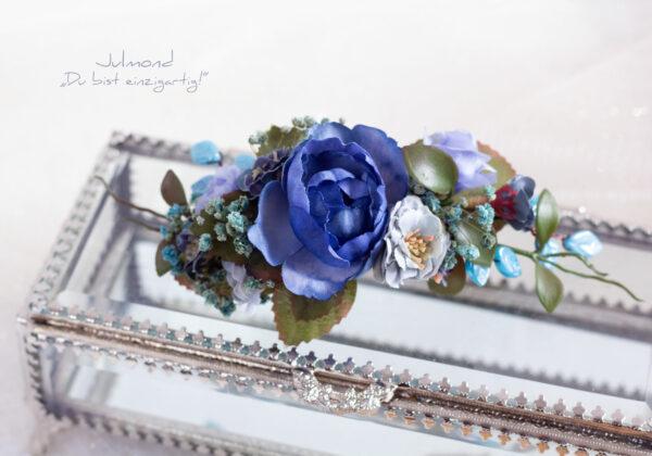 Haarschmuck Blumen Blau-01