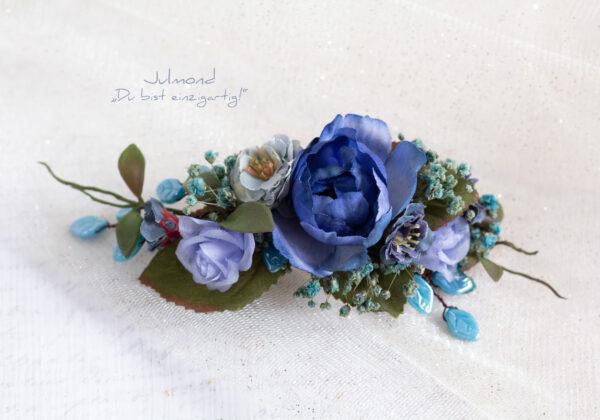 Haarschmuck Blumen Blau-02