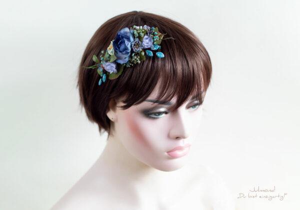 Haarschmuck Blumen Blau-04