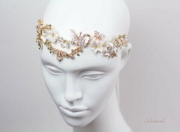 Halina – Gold Haarschmuck Braut Diadem-02