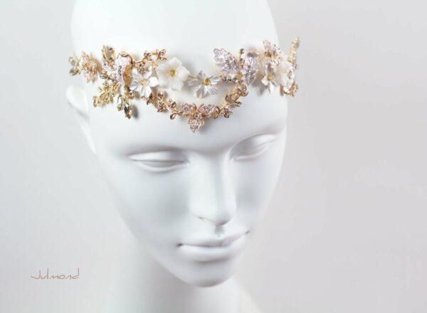 Halina – Gold Haarschmuck Braut Diadem-03