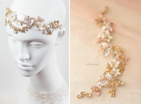 Halina – Gold Haarschmuck Braut Diadem-04