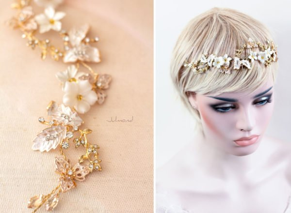 Halina – Gold Haarschmuck Braut Diadem-05
