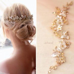 Halina – Gold Haarschmuck Braut Diadem-06