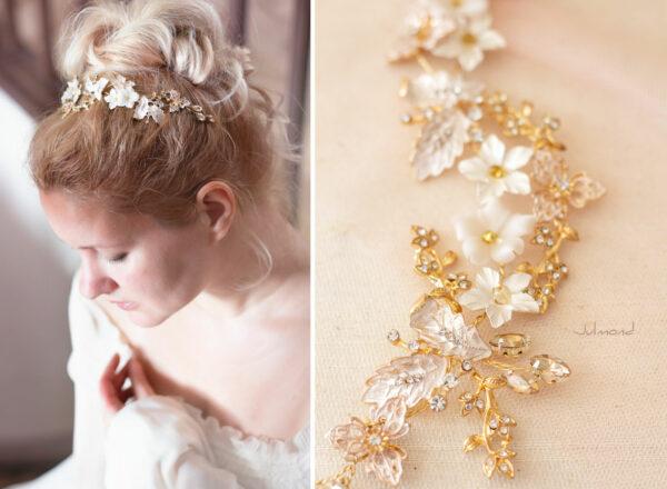 Halina – Gold Haarschmuck Braut Diadem-07