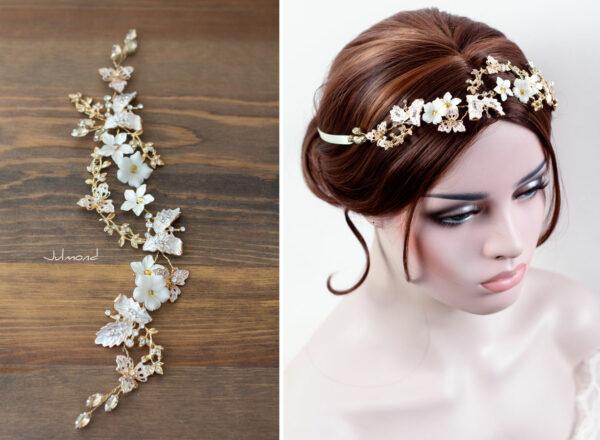 Halina – Gold Haarschmuck Braut Diadem-08