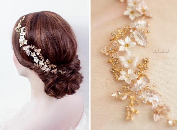 Halina – Gold Haarschmuck Braut Diadem-09
