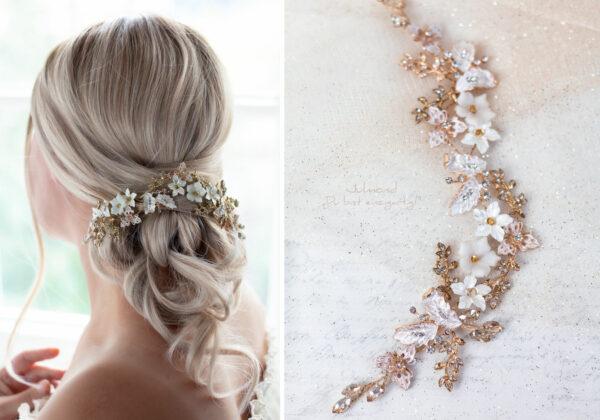 Halina – Gold Haarschmuck Braut Diadem-10
