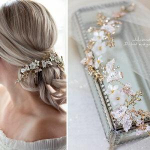 Halina – Gold Haarschmuck Braut Diadem-11
