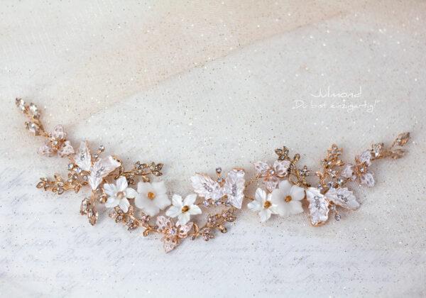 Halina – Gold Haarschmuck Braut Diadem-12