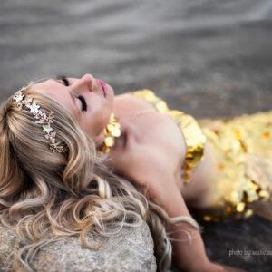 Halina II Gold Diadem Braut-10