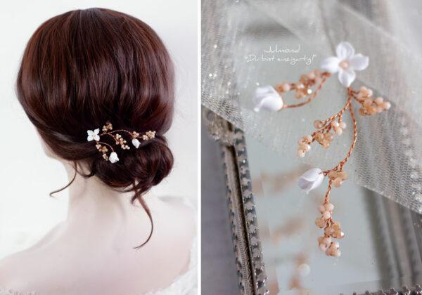 Inessa Haarschmuck Braut Rosegold-07