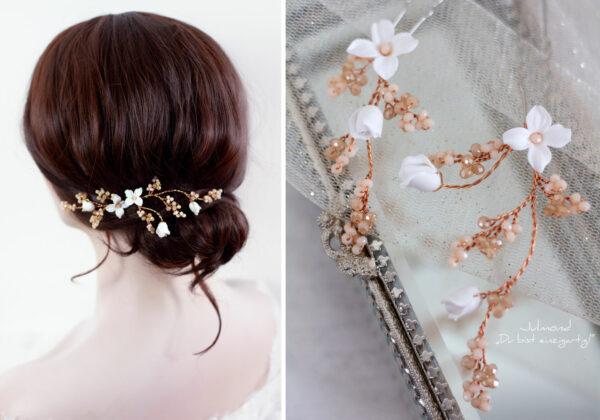 Inessa Haarschmuck Braut Rosegold-08
